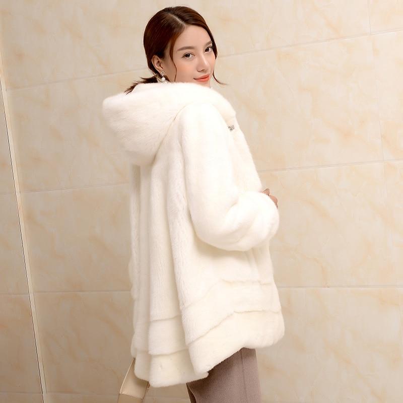 Fourrure Manteau Blue Color Spécial Femmes Section white Avec Une Wine Velours Importé Vison sultan black Cream Longue red Nouvelle En De I4Axx