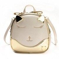 Triple Stone Cartoon Cute Cat Mini Child Girls Small Backpack Little Kitten Shoulder Bag Laser Fashion