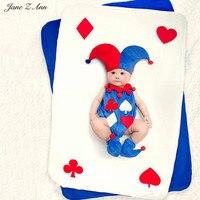 ג 'יין Z אן פעוט תינוק תינוק 4-6month acessorios para פוטוגרפיה ליצן מצחיק בפלאש תלבושות תמונת נכס roupas פוטוגרפיה bebes