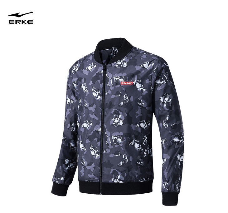 Erke mens sports jacket top 2018 autumn new cardigan men wild windbreaker sportswearErke mens sports jacket top 2018 autumn new cardigan men wild windbreaker sportswear