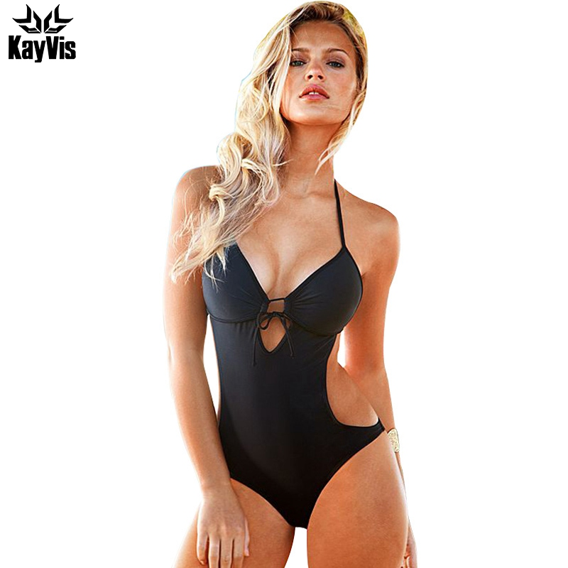 KayVis One Piece Swimsuit Sexy Swimwear Women 2017 Summer Beach Wear Bathing Suit Bandage Backless Halter Top Monokini Swimsuit water princess sexy bandage one piece swimwear women halter bathing suit swimsuit monokini maillot backless hollow beach wear