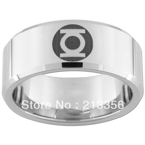 10pcslot free shippingusa wholesales cheap price 8mm womenmens hisher silver - Green Lantern Wedding Ring