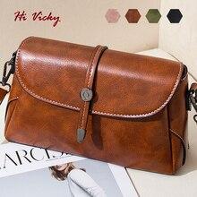 Luxury Crossbody Bags For Women 2019 Shoulder Bags Female Vintage Leather Bags Women Handbags Famous Brand Rivet Small Ladies