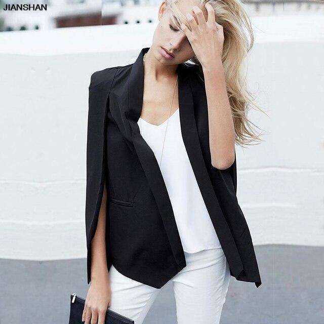 Très JIANSHAN De Mode cape poncho style blanc veste manteau automne  MF07