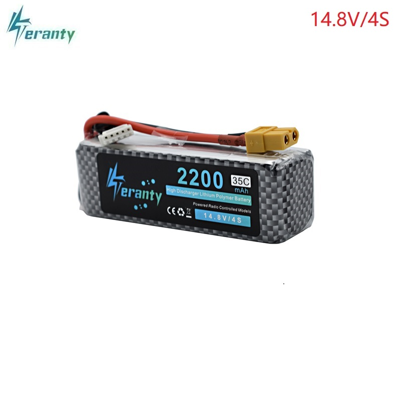 <font><b>14.8v</b></font> <font><b>2200mAh</b></font> 35C LiPo <font><b>Battery</b></font> T/XT60/JST/EC5 Plug <font><b>14.8v</b></font> Rechargeable 4S Lipo lithium <font><b>Battery</b></font> For RC Car Airplane Helicopter image