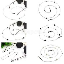 Faux Pearl Beaded Chain Reading Glasses Eyeglass Holder Spectacle Sunglass Eyewear Cord Necklace 78cm/30.7'' faux pearl
