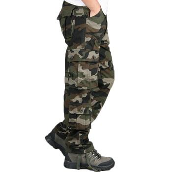 Camouflage Pants Men Casual Camo Cargo Trousers Hip Hop Joggers Streetwear Pantalon Homme Multi-pocket Military Tactical Pants Casual Pants