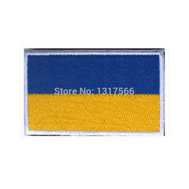 Parche bordado Bandera Nacional Ucrania parches militares tácticos brazalete hombro marca tela pegatina