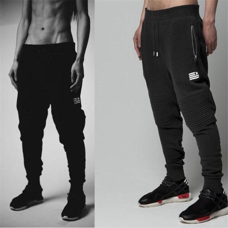23260aff55 Pantalones Para Hombre pantalones de Chándal de Algodón Gimnasio Flacas  Joggers Pantalones Chandal hombre Pantalones Casuales en Pantalones harén  de La ropa ...
