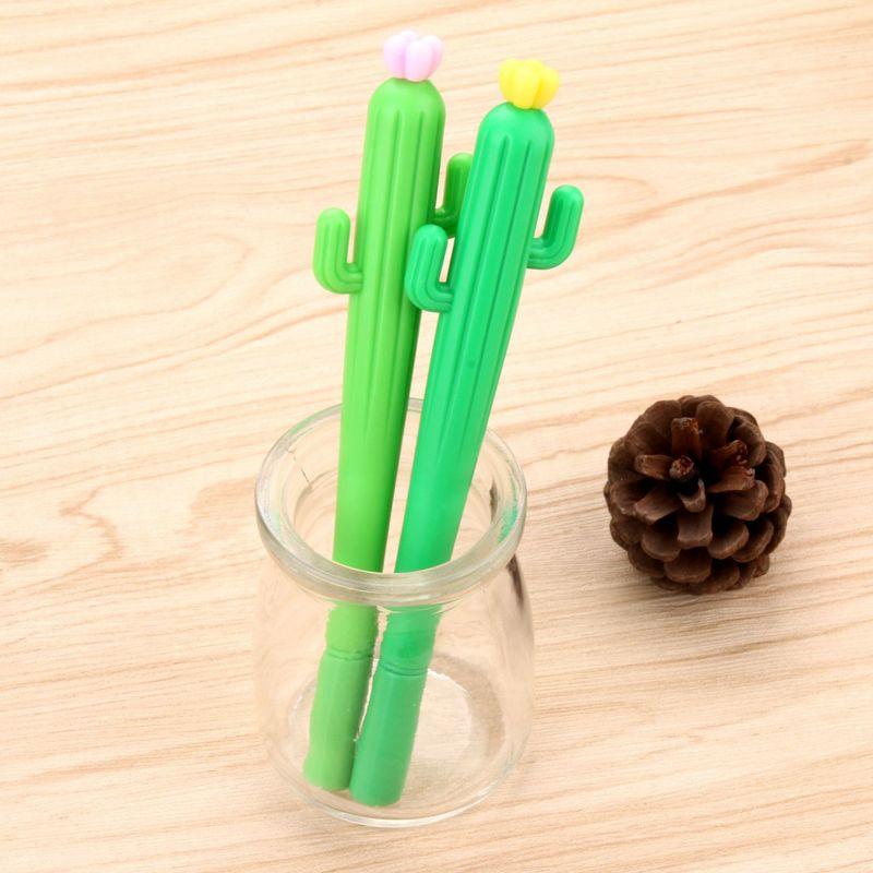 Image 4 - 100 шт корейские Творческие маленькие свежие в форме кактуса милые нейтральные ручки для студентов с черной ручкой для воды Kawaii школьные принадлежности канцелярские принадлежности-in Гелевые ручки from Офисные и школьные принадлежности