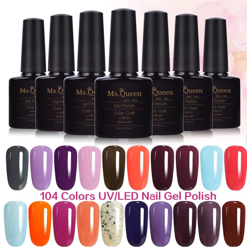 Queen Gel Nail Polish: #B1580 10ml 104 MS.Queen Bluesky Gel Polish Base For Nails