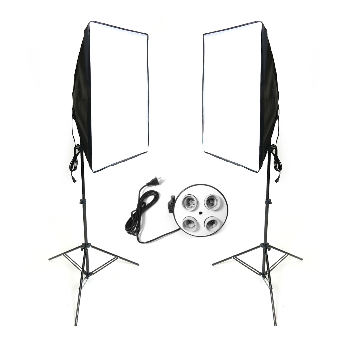 50x70cm Photography Softbox Lighting Kit Stand Tripod Camera Studio Equipment New Arrival new arrive 240 cm 95 inch portable photo video studio tripod stand for dslr camera speedlite softbox photography light stand