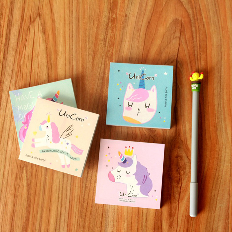 Notebooks & Writing Pads Lower Price with Cute Kawaii Cartoon Animal Finger Unicorn Memo Pad N Times Sticky Note Paper Korean Stationery Cat Planner Sticker School Office Memo Pads