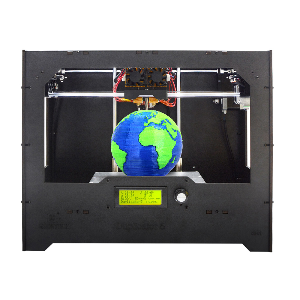 10 PCS Dual Extruder Cloud 3D Printer DIY kit LCD 2004 GT2560 Main Board 230x150x150mm ABS/PLA/Flexible PLA/ Nylon/Wood-Polymer