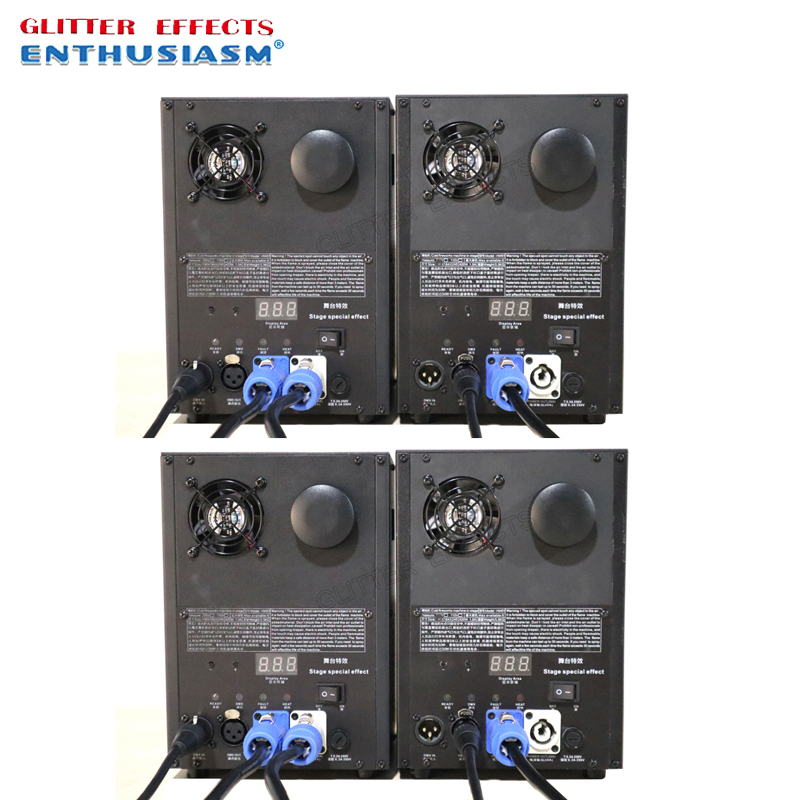 4pcs lot Professional dmx remote stage cold spark fountain machine titanium powder machine for wedding dj