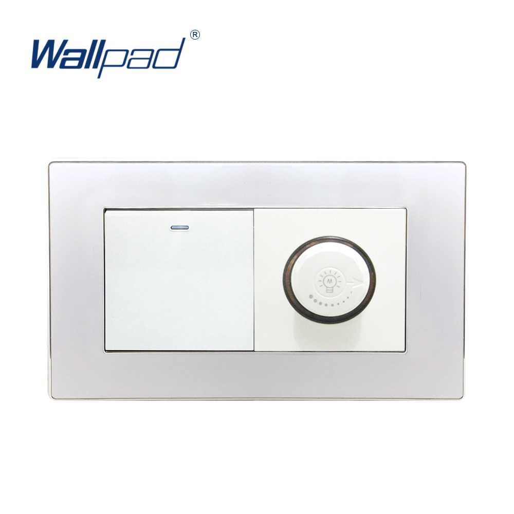 2019 New Arrival 1 Gang 2 Way And Dimmer Switch Light Regulator Wallpad Luxury Wall Light Switch Acrylic Panel2019 New Arrival 1 Gang 2 Way And Dimmer Switch Light Regulator Wallpad Luxury Wall Light Switch Acrylic Panel