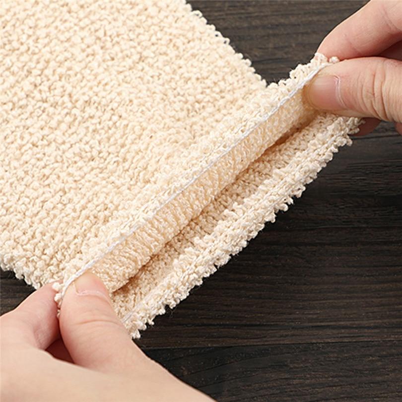 1Pair Shower Gloves Exfoliating Wash Skin Spa Bath Gloves Natural Bamboo Fiber Bath Exfoliating Scrubber Washcloths (5)