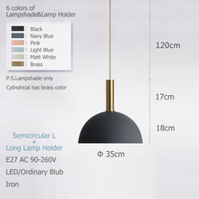 Nordic simple pendant light E27 LED modern creative hanging lamp design by yourself for bedroom living room lobby restaurant bar