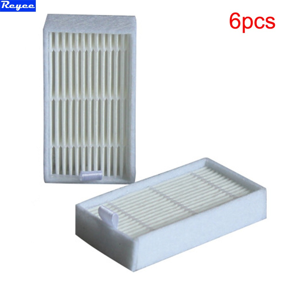 White 6 Pcs / Lot  Hepa Filter for Panda X500 ECOVACS X500 X600 CR120 Vacuum Cleaner parts replacement Free Shipping New filter vacuum cleaner eup hepa vh806 filter replacement parts