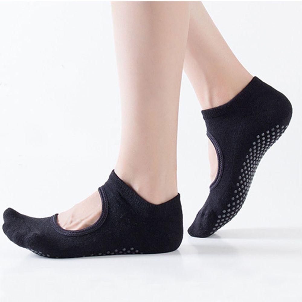 Hot Sale New 1pair Wear-resisting Backless Antibacterial Ankle Yoga Socks Cotton Anti-slip Ballet Pilates Dacing Barre Sock