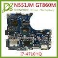 KEFU N551JM Motherboard Für ASUS N551JM N551JK N551J Laptop Motherboard I7-4710HQ G551JM Neue Motherboard GTX860m-2GB Test