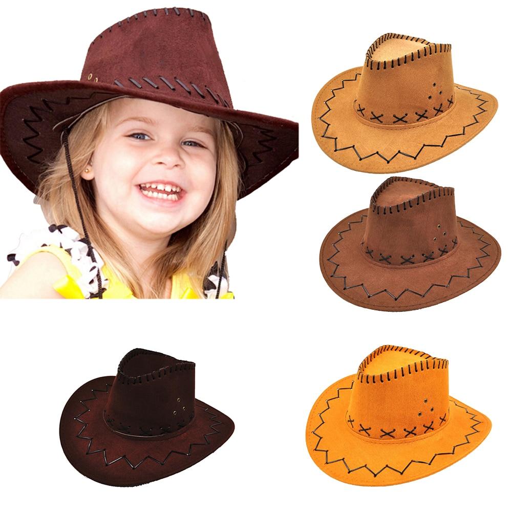 Мужская и Женская Ковбойская шляпка West, унисекс, летняя шляпа для путешествий, для детей