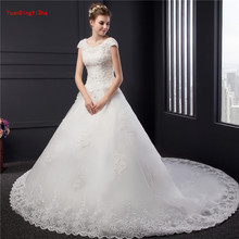 YuanDingYiSha Custom A-line Cathedral Train Wedding Dresses