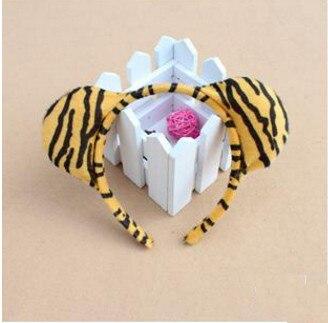 Дети взрослые Косплей Животное ухо оголовье пчела Шрек Медведь Корова Зебра мышь Обезьяна и лягушка Тигр Леопард лягушка день рождения - Цвет: tiger