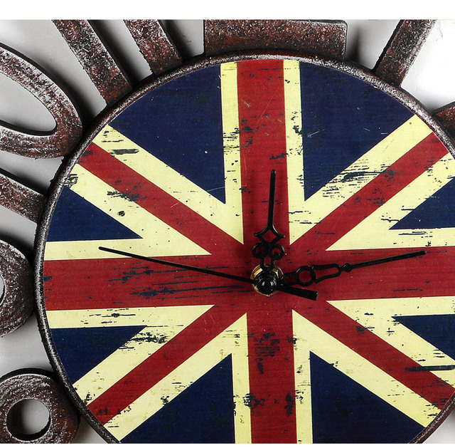 European Design clock Antique Vintage wooden gear wall Clock Saat Wood watches clocks home decoration large wall Clock reloj