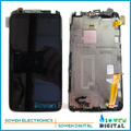 Para htc one x s720e lcd screen display com digitador da tela de toque com conjunto completo de montagem de quadros