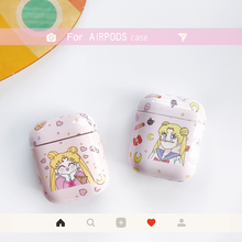 Cartoon sailor moon hard case for Apple Airpods protective cover Bluetooth Wireless Earphone Case Charging Box bags