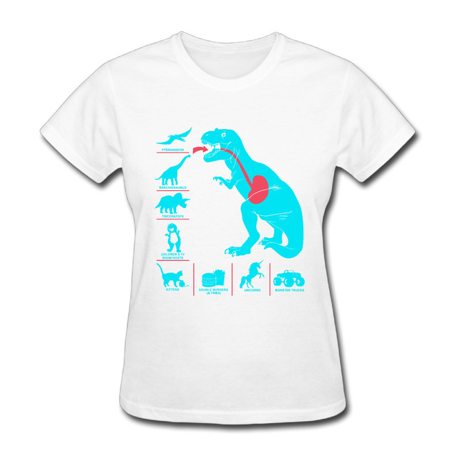 9feaf643 Mint Dinosaur female hip hop awesome t-shirts short sleeve 100% cotton women  o neck tops