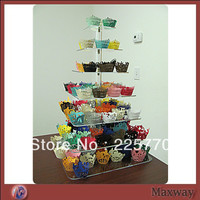 Free shipping 7 Tier crystal wedding Acrylic Cupcake Stand wedding decoration