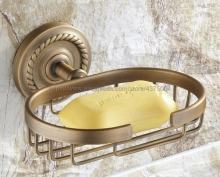 Antique brass soap holder,Pure copper bathroom basket accessories Nba092