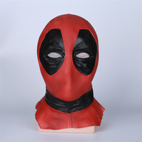 Takerlama New Version Deadpool Mask Super hero Deadpool Mask Breathable Latex Full Face Mask Helmets Halloween Cosplay Prop