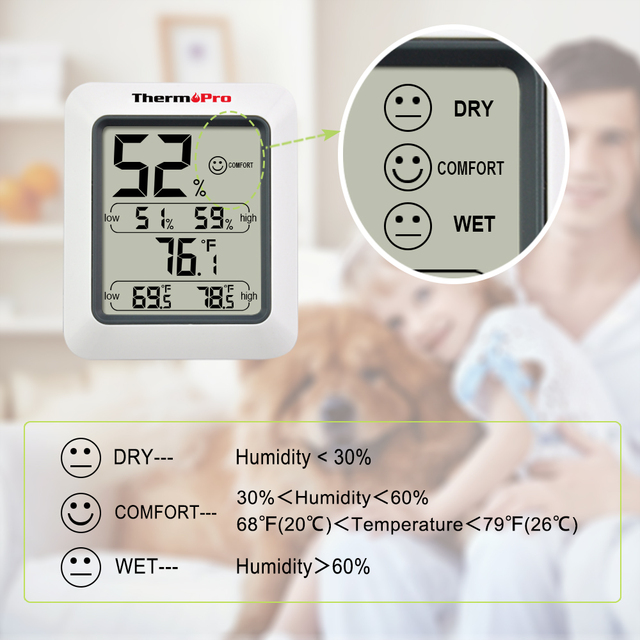 Thermopro TP50 Digital Hygrometer Thermometer Indoor Temperature Humidity Weather Station