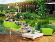 Фотография customize 3d wall papers home decor living room Garden park papel de parede do desktop 3d wall wallpaper brick wall