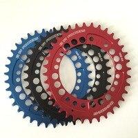 1 pc Fouriers CNC rower Pojedynczy Łańcuch Pierścień 34 T 36 T Chainrings 104BCD dla S h i m a n o Owalnym Kształcie Wąskiej Szerokości ząb