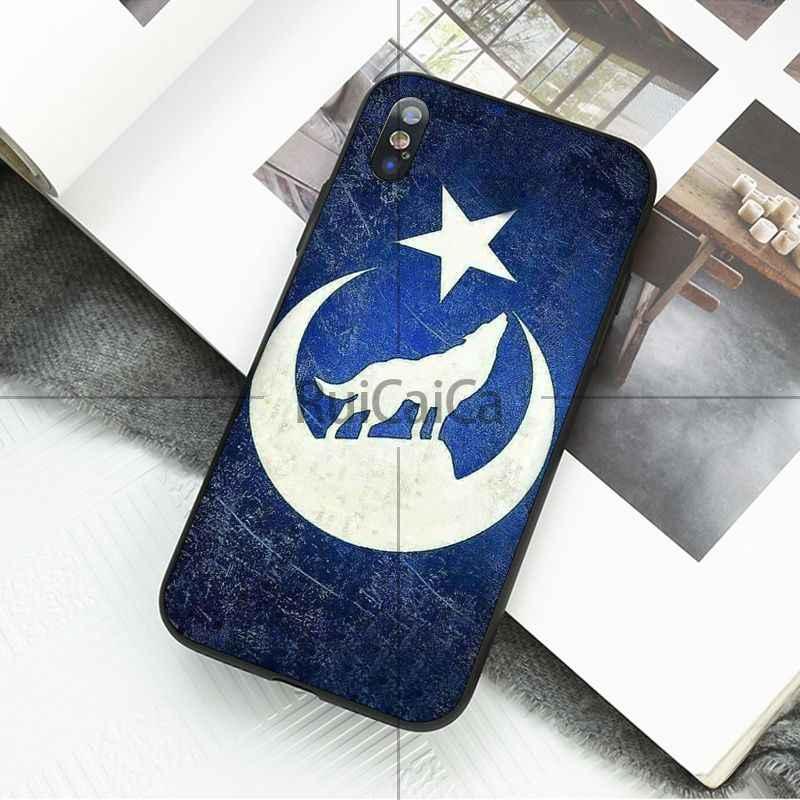 Ruicaica علم تركيا الذئب DIY رسمت الهاتف اكسسوارات حالة ل أبل فون 8 7 6 6 S زائد X XS ماكس 5 5 S SE XR حالات المحمول