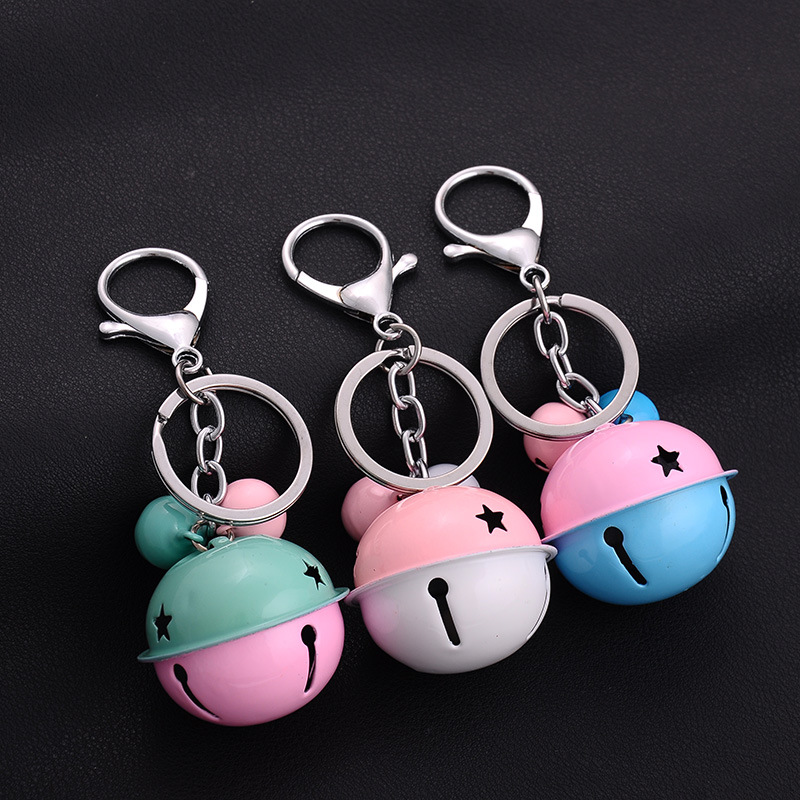 NEW Hot fashion 12 colors Lovely cute bell keychian Cartoon Game movie Key Car alloy keychain wedding favors keychain in Key Chains from Jewelry Accessories