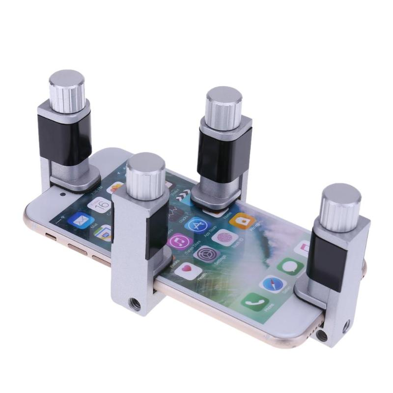 Купить с кэшбэком 4pcs/lot Adjustable LCD Screen Fastening Clamp Tools Set Plastic Clip Fixture For iphone Samsung iPad Tablet Phone Repair Tool