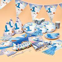 Baby Decor Props Girl Boy Babies One Year Old Birthday Party Cute Funny Birthday Decoration Series