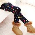 Meninas de inverno Leggings Super Engrossar Quente Calças Menina Crianças Calças Cintura Elástica Legging Calças Roupa Das Crianças 2-10 Anos velho