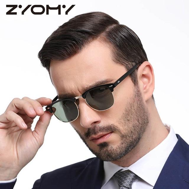 Mężczyźni/Kobiety Okulary Semi Rimless Retro Okulary Marka Projektant Vintage Óculos De Sol Klasyczne UV400 Okulary kobiet