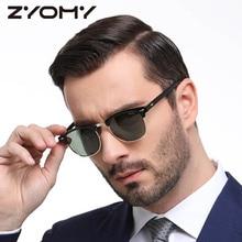 Heren / Dames Gepolariseerde Zonnebril Semi-Randloze Retro Zonnebril Gepolariseerde merk Designer Vintage Oculos De Sol Classic UV400