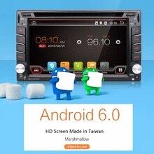 Universal 2 din Android 6.0 Coches reproductor de DVD GPS Wifi Bluetooth Radio 2 GB CPU DDR3 de la Pantalla Táctil Capacitiva 3G pc del coche aduio obd2