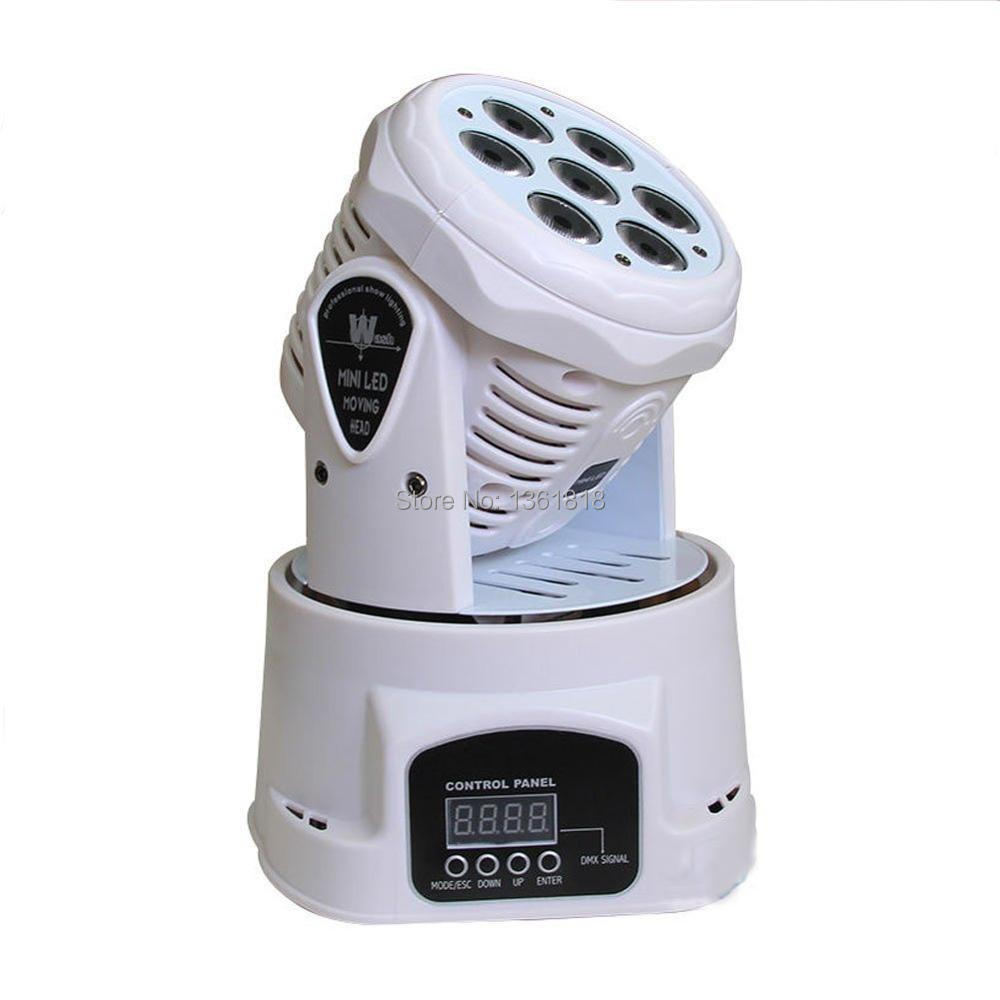 (1 pieces/lot) White LED Moving Head Mini wash 7x12w RGBW led dmx Quad with advanced 14 channels Free Shpping 10 pieces promotional packaging led moving head mini wash 4x10w rgbw quad with advanced 9 12 channels free