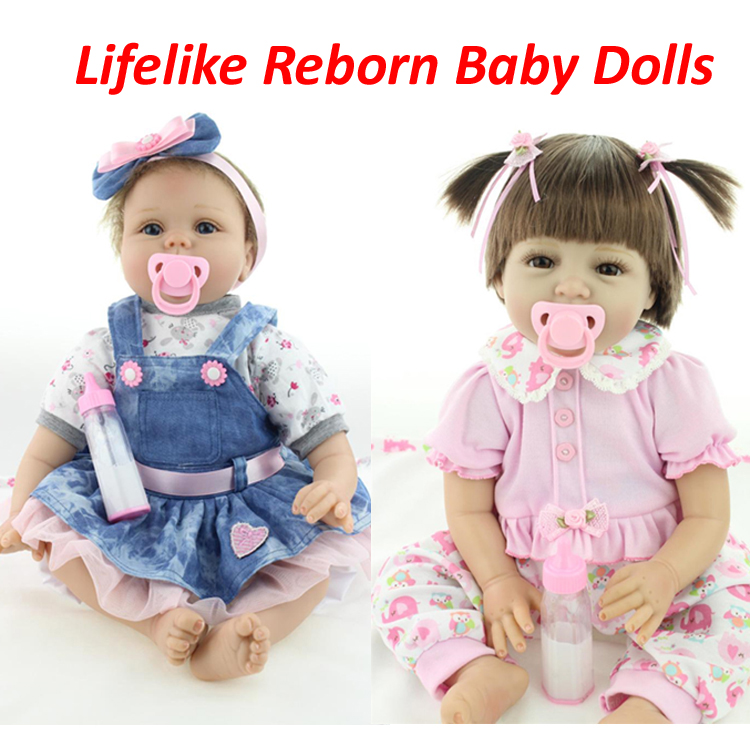 Silicone reborn baby doll toys for girl, lifelike reborn babies play house toy birthday gift girl brinquedods pink princess doll silicone vinyl reborn toddler doll toys for girl 55cm lifelike princess doll play house toy birthday christmas gift brinquedods