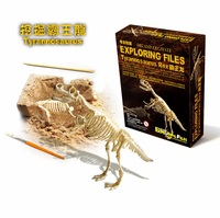 Candice guo! children funny game DIG and Excavate exploring files Dinosaur Fossils Archeology toy gift birthday Christmas 1pc