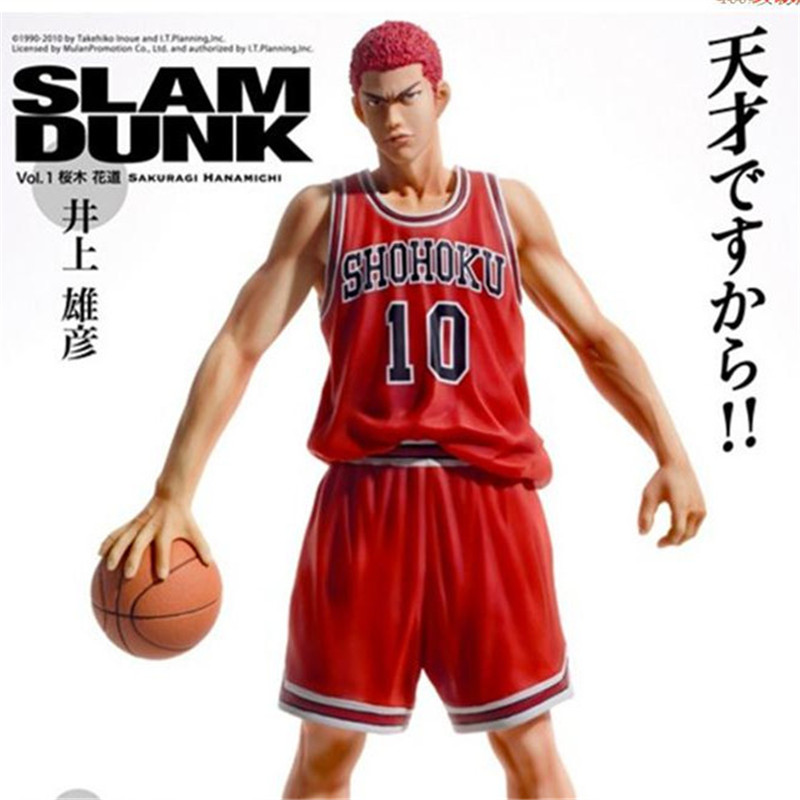 ФОТО New 2016 Classic Toys Japan Anime Slam Dunk Sakuragi Hanamichi Slamdunk Toys 25cm PVC Action Figure Collection Gift For Children